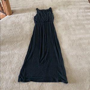 Charcoal Gray LOFT Maxi Dress